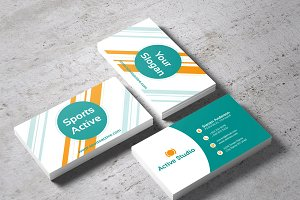 Sports Active Business Card