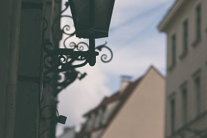 Street lamp in the old town of Riga