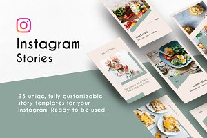 Instagram Stories Template Light