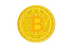 Bitcoin sign on bank vault