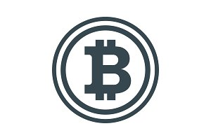 Bitcon black icon