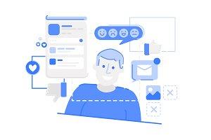 Social Media Illustration Pack