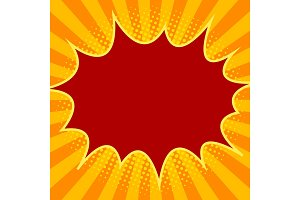 Yellow red halftone background vector illustration
