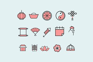 15 Chinese New Year Icons