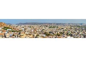 Panorama of Jaipur - Rajasthan, India