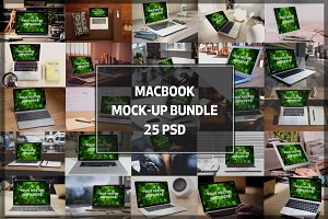 BUNDLE! - 25 MacBook Mock-up#2