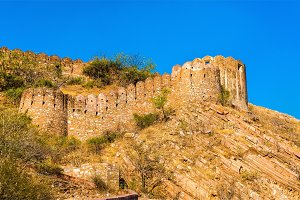 Walls of Nahagarh Fort at Jaipur - Rajasthan, India