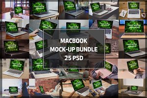 BUNDLE! - 25 MacBook Mock-up #1