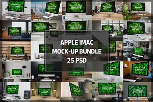 BUNDLE! - 25 iMac Mock-ups