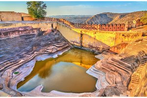 Step well of Nahargarh Fort in Jaipur - Rajasthan, India