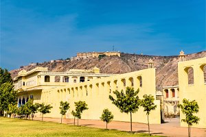Badal Mahal Palace and Nahargarh Fort in Jaipur, India