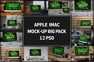 iMac Mock-up Big Pack#2