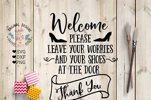 Welcome Cut File and Printable