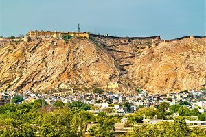 View of Nahargarh Fort above Jaipur, India