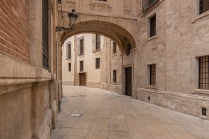 Arch on Barchilla Street by Cathedral Valencia