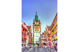 The Martinstor, the Martin's Gate in Freiburg im Breisgau, Germany