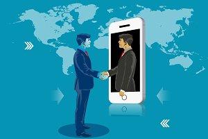 Business online communication.