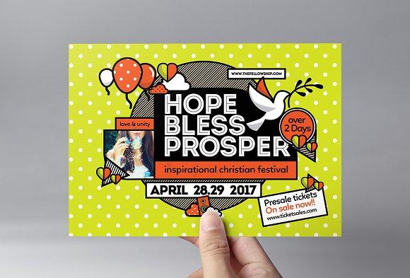 Christian Festival Flyer Template ~ Flyer Templates ~ Creative Market