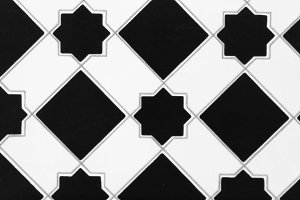 Tile in Black and White