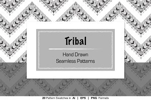 Hand Drawn Tribal Doodle Patterns
