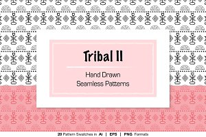B &W Hand Drawn Tribal Patterns II