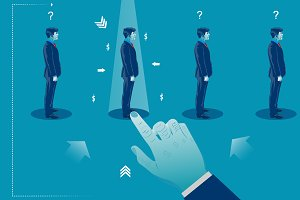 HR select employee. Recruitment