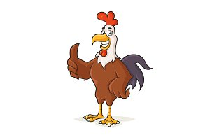 Rooster Mascot - Full Body