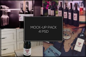 Wine Mock-up Pack#2