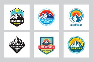 Mountain Adventure - Vector Logo Set