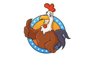 Rooster Mascot - Emblem