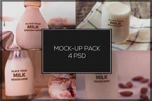 Milk Bottle Mock-up Pack#2