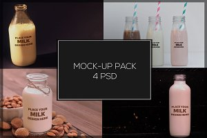 Milk Bottle Mock-up Pack#1