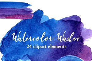 Blue and Purple Watercolor Textures