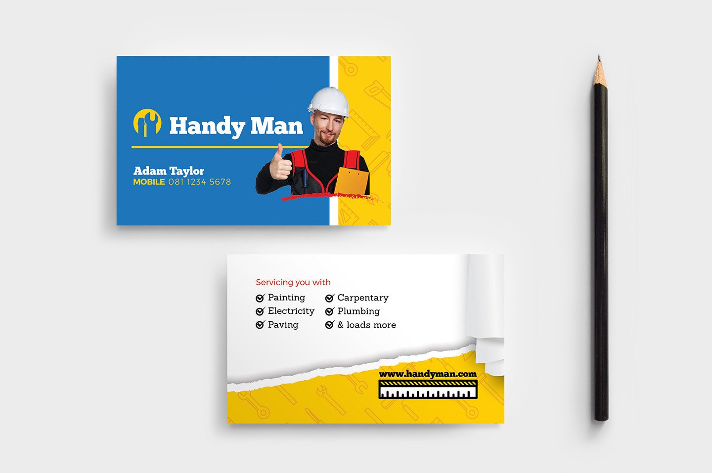 Handyman Business Card Template ~ Business Card Templates ~ Creative ...