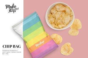 Snack bag mockup #9797