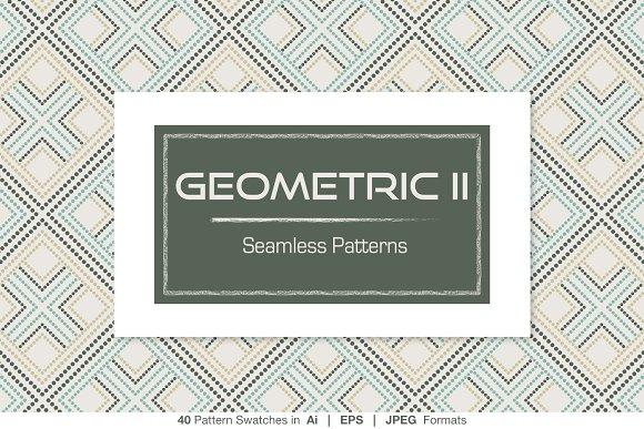 40 Geometric Seamless Patterns