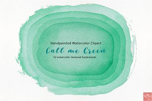 Watercolor Clipart Call me Green