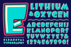 Lettering Design: Lithium & Oxygen