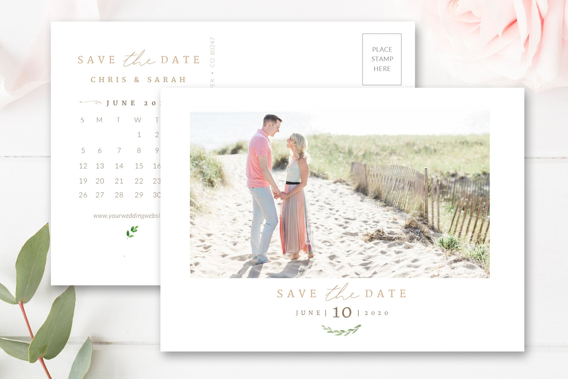 Calendar Save The Date Template Flyer Templates Creative Market - Save the date calendar template