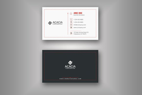 B6 Business Card