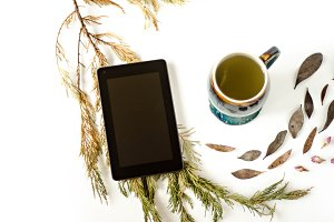 Whimsical Tablet and Mug