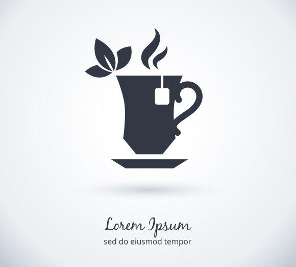 tea cup logo icons creative market