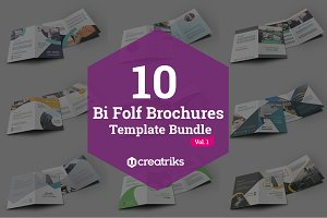 10 Bi Fold Brochures Bundle - Vol. 1