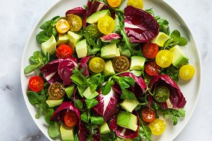 summer bright fresh salad of cherry