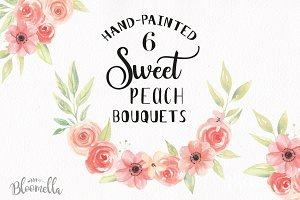 Watercolor Flower Clipart Bouquets