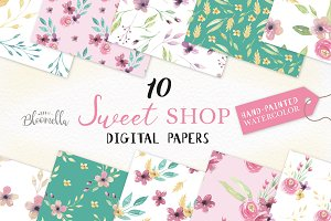 Sweet Seamless Patterns Watercolor