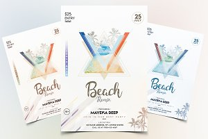 Beach Party - PSD Flyer Template V.3