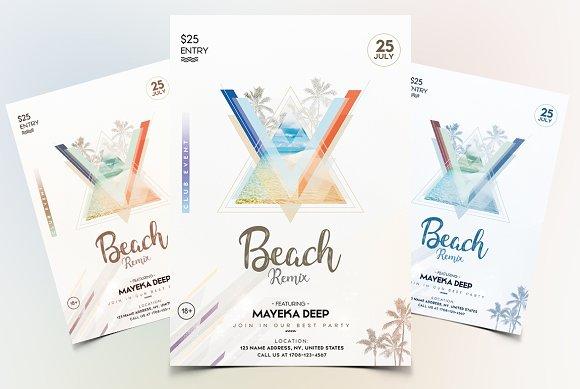 Beach Party PSD Flyer Template V.3