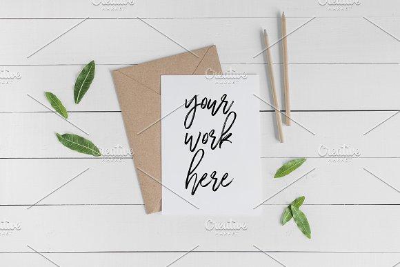 A5 Invitation Card Mockup Envelope