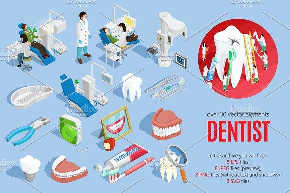 Dentist Isometric Set